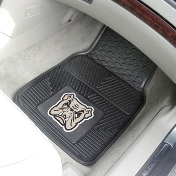 Adrian College Heavy Duty Vinyl Front Black Car Mat, Set of 2
