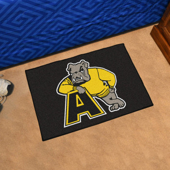 "19"" x 30"" Adrian College Black Rectangle Starter Mat"