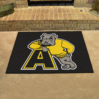 "33.75"" x 42.5"" Adrian College All Star Black Rectangle Mat"