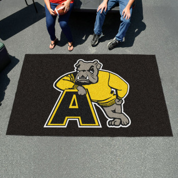 "59.5"" x 94.5"" Adrian College Black Rectangle Ulti Mat"