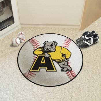 "27"" Adrian College Baseball Style Round Mat"