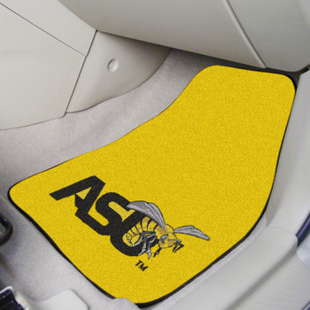 Alabama State University Yellow Carpet Car Mat, Set of 2