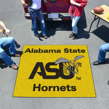 "59.5"" x 71"" Alabama State University Yellow Tailgater Mat"