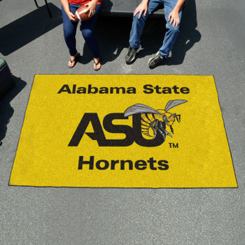 "59.5"" x 94.5"" Alabama State University Yellow Rectangle Ulti Mat"