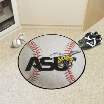 "27"" Alabama State University Baseball Style Round Mat"