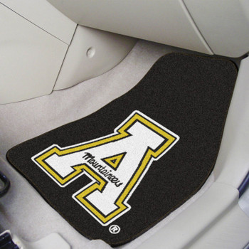 Appalachian State University Black Carpet Car Mat, Set of 2