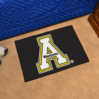 "19"" x 30"" Appalachian State University Black Rectangle Starter Mat"