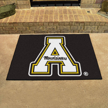 "33.75"" x 42.5"" Appalachian State University All Star Black Rectangle Mat"