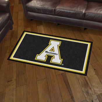 3' x 5' Appalachian State University Black Rectangle Rug
