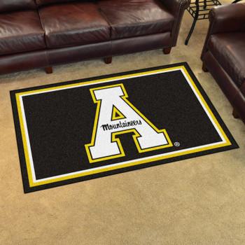 4' x 6' Appalachian State University Black Rectangle Rug