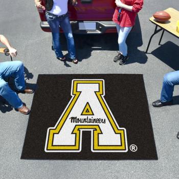 """59.5"""" x 71"""" Appalachian State University Black Tailgater Mat"""