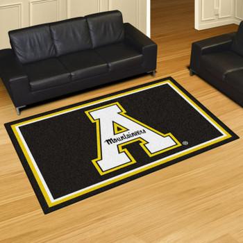 5' x 8' Appalachian State University Black Rectangle Rug