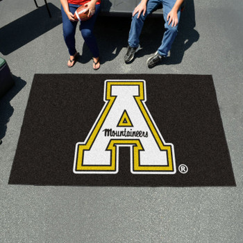 "59.5"" x 94.5"" Appalachian State University Black Rectangle Ulti Mat"