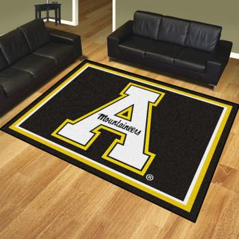 8' x 10' Appalachian State University Black Rectangle Rug