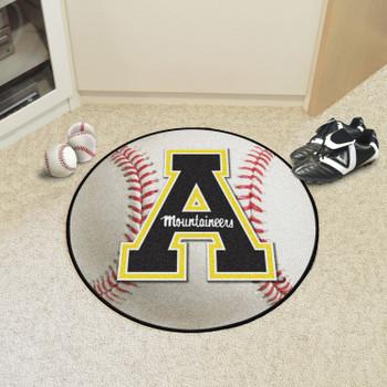 """27"""" Appalachian State University Baseball Style Round Mat"""