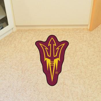 """Arizona State University Mascot Mat - """"Pitchfork"""" Logo"""