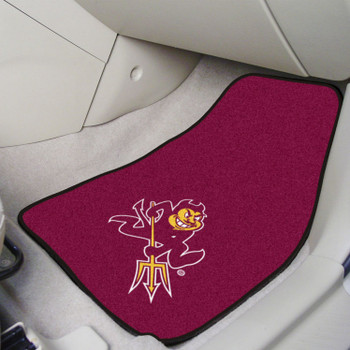 Arizona State University Sparky Logo Carpet Car Mat, Set of 2