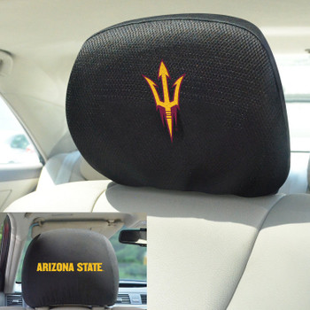 Arizona State University Car Headrest Cover, Set of 2