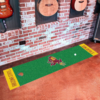 "18"" x 72"" Arizona State University Sparky Logo Putting Green Runner Mat"