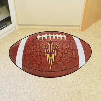 "20.5"" x 32.5"" Arizona State University Football Shape Mat"