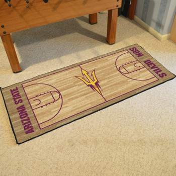 "30"" x 72"" Arizona State University NCAA Basketball Rectangle Runner Mat"