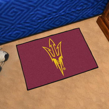 "19"" x 30"" Arizona State University Pitchfork Logo Maroon Rectangle Starter Mat"