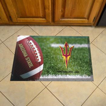 "19"" x 30"" Arizona State University Rectangle Scraper Mat - ""Pitchfork"" Logo"