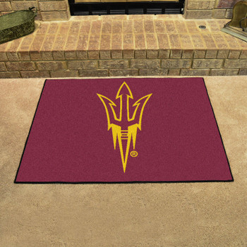 "33.75"" x 42.5"" Arizona State University Pitchfork Logo All Star Maroon Rectangle Mat"