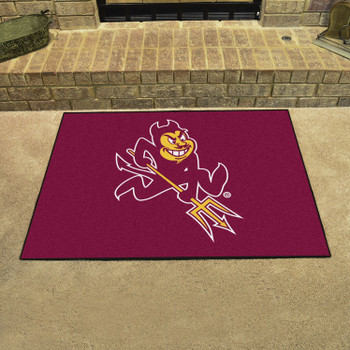 "33.75"" x 42.5"" Arizona State University Sparky Logo All Star Maroon Rectangle Mat"