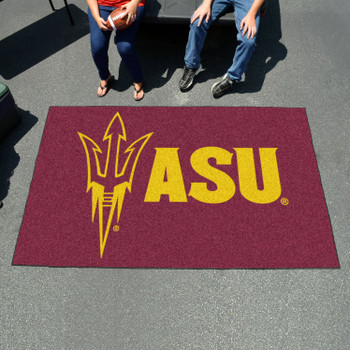 "59.5"" x 94.5"" Arizona State University Pitchfork Logo Maroon Rectangle Ulti Mat"