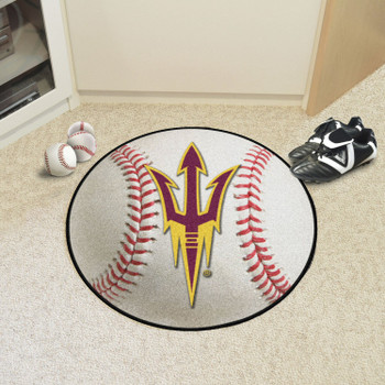 """27"""" Arizona State University Baseball Style Round Mat"""