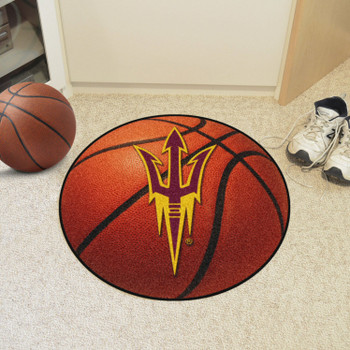 """27"""" Arizona State University Basketball Style Round Mat"""
