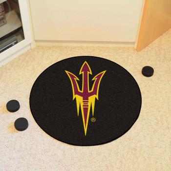 "27"" Arizona State University Puck Round Mat - ""Pitchfork"" Logo"
