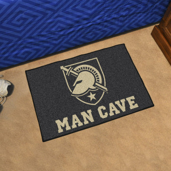 "19"" x 30"" U.S. Military Academy (Army) Man Cave Starter Black Rectangle Mat"