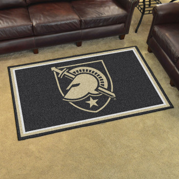 4' x 6' U.S. Military Academy (Army) Black Rectangle Rug