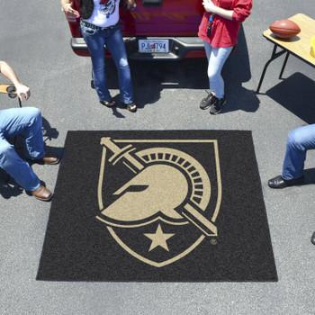 "59.5"" x 71"" U.S. Military Academy (Army) Black Tailgater Mat"