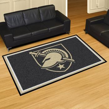 5' x 8' U.S. Military Academy (Army) Black Rectangle Rug