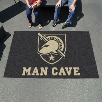 "59.5"" x 94.5"" U.S. Military Academy (Army) Man Cave Black Rectangle Ulti Mat"