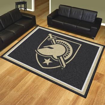 8' x 10' U.S. Military Academy (Army) Black Rectangle Rug