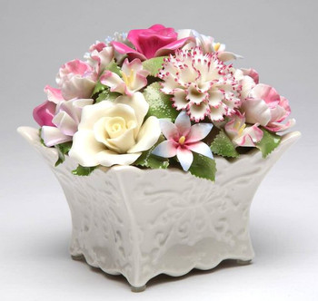 Bouquet of Flowers Musical Music Box Sculpture