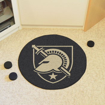 "27"" U.S. Military Academy (Army) Puck Round Mat - ""Shield with Armour"" Primary Logo"