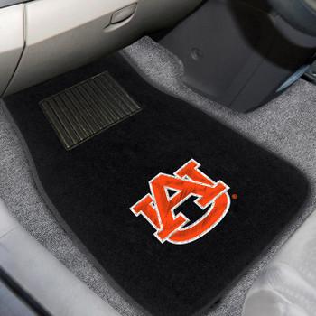 Auburn University Embroidered Black Car Mat, Set of 2