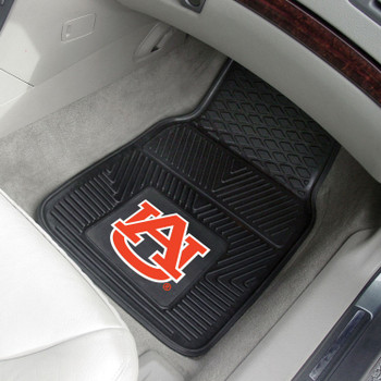 Auburn University Heavy Duty Vinyl Front Black Car Mat, Set of 2