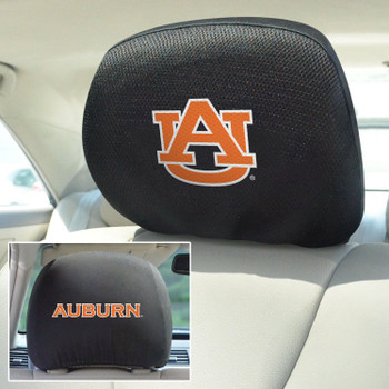 Auburn University Car Headrest Cover, Set of 2