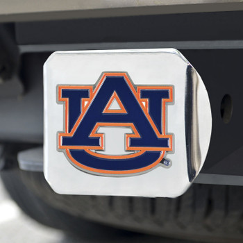 Auburn University Color Hitch Cover - Chrome