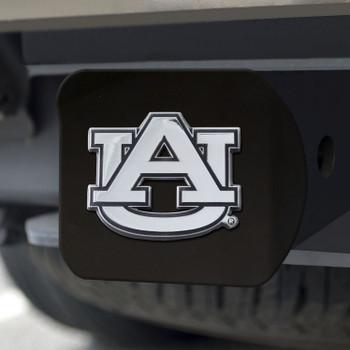 Auburn University Hitch Cover - Chrome on Black