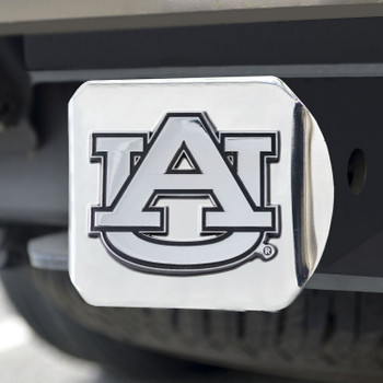 Auburn University Hitch Cover - Chrome on Chrome