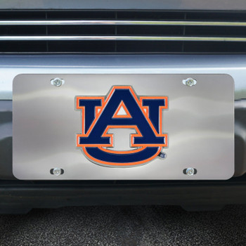 Auburn University Diecast Stainless Steel License Plate