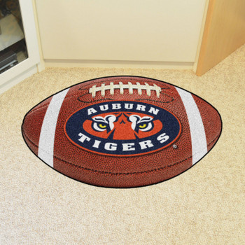 "20.5"" x 32.5"" Auburn University Football Shape Mat"