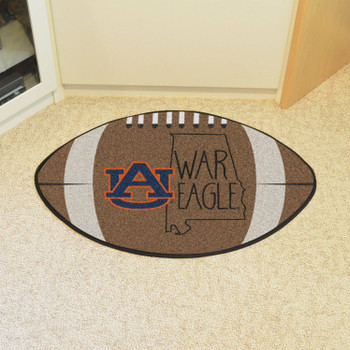 "20.5"" x 32.5"" Auburn University Southern Style Football Shape Mat"